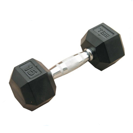 High Quality Rubber Hex Dumbbell