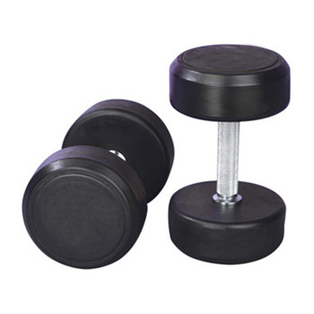 Good Quality Black Rubber Coated Dumbbell