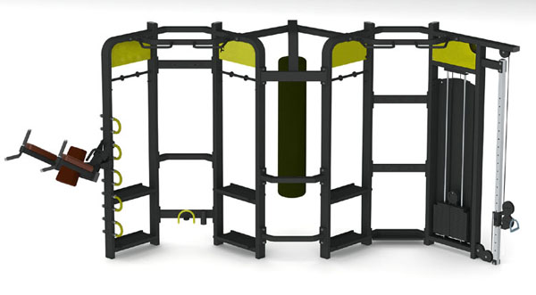 Group Training Fitness Equipment Synrgy360 with 3mm steel tube