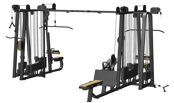 Jungle Machine(8-stack) Used As Selectorized Gym Equipment With Good Design